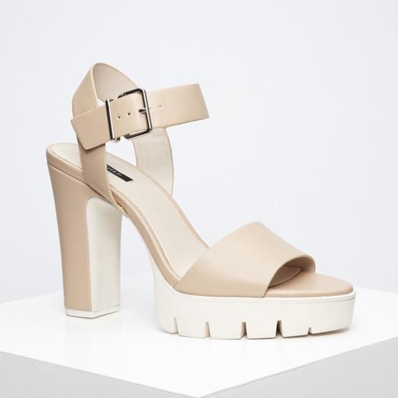 c17c7df01b Forever 21 Shoes - Forever 21 Natural Lug Sole Platform Heels